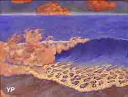 Marine bleue, effet de vagues (Georges Lacombe)