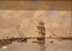 Trouville, les jetées, mer haute (Eugène Boudin)