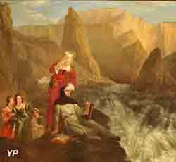 Laure et Pétrarque à la fontaine de Vaucluse (Philippe-Jacques van Brée)