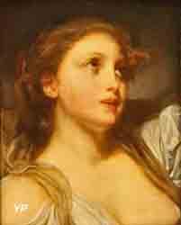 Tête de jeune fille au ruban bleu (Jean-Baptiste Greuze)