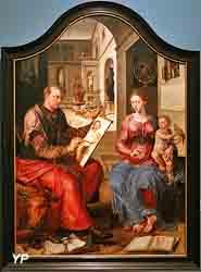 Saint Luc peignant la Vierge (Maarten van Heemskerck)