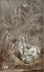 Esquisse pour l'Adoration des anges (Carle Van Loo)