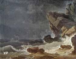Tempête sur une côte rocheuse (Jean Henry, dit Henry d'Arles)