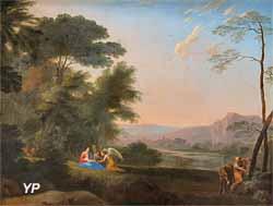Le repos de la Sainte Famille (Herman van Swanevelt)
