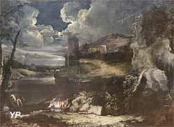 Paysage nocturne (Marco Ricci)