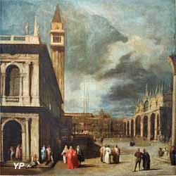 Venise, la Piazzetta San Marco (attribué à Giovanni Antonio Canal, dit Canaletto) (Yalta Production)