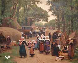 L'arrivée au pardon de Fouesnant (Théophile Deyrolle)