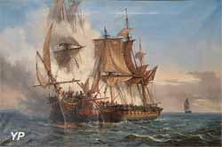L'abordage du vaisseau Lord Nelson, de 50 canons de 18, par le corsaire bordelais La Bellone, de 32 canons de 8 (Auguste Meyer)