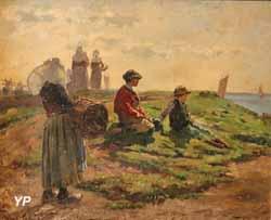 Concarneau, l'attente des pêcheurs ou le Retour (Achille Granchi-Taylor)