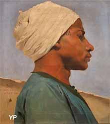 Portrait d'un jeune guide arabe (Paul Leroy)