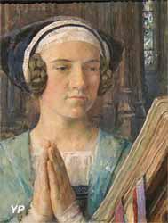 Portrait de femme en prière (Edgard Maxence)
