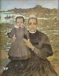 Esquisse pour Notre-Dame de Penmarc'h  (Lucien Lévy-Dhurmer)