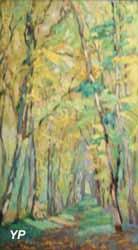 Allée de sous-bois en automne (Emmanuel de la Villéon)