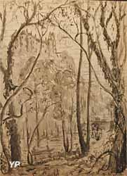Montmuran (encre sur papier, Emmanuel de la Villéon)