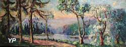 Composition au chemin rose (Emmanuel de la Villéon)