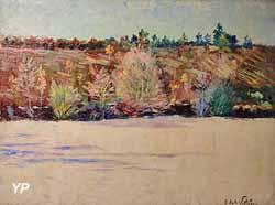 Le coteau en automne (Emmanuel de la Villéon)