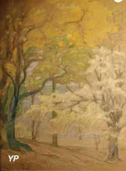 Sous-bois blanc et or (Emmanuel de la Villéon)