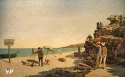 Enseigne de l'ancienne pension Gloanec (Hermanus-Franciscus Van den Anker et Fernand Quignon, 1880)