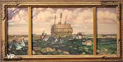 Pèlerins au calvaire - Tronoën (Ernest Guérin, 1930)