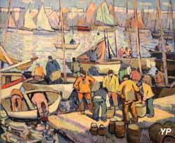 Les pêcheurs à Concarneau (Eugène-Pierre Savigny dit Pierre de Belay, 1937)
