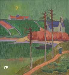 La chapelle de Lanriot au clair de lune (Emile Jourdan, 1926)