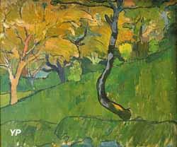 Paysage à l'arbre bleu (Meijer de Haan)