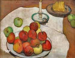 Nature morte aux pommes et au chandelier (Wladislaw Slewinski, 1897)