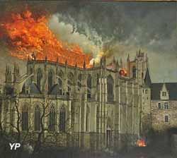 La cathédrale en feu (Edmond Bertreux)