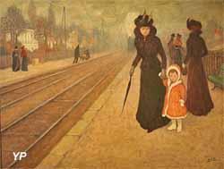 Exposition Bretagne Express - La gare de banlieue (Georges d'Espagnat)