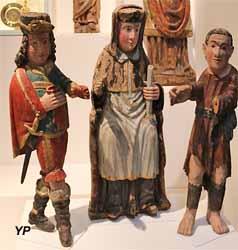 Saint Yves entre le Riche et le Pauvre (bois polychrome, XVIIe s.)