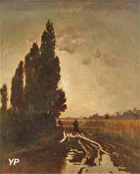 La route sous la pluie (Léon Belly, 1854)
