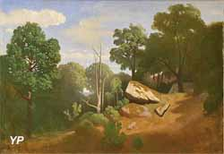Rochers en forêt de Fontainebleau - Gorge-aux-Loups (Théodore Caruelle d'Aligny)
