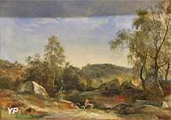 Halte des peintres à Fontainebleau (Auguste-Xavier Leprince, 1820)