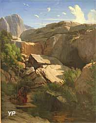 Saint Jérôme, paysage (Paul Flandrin)