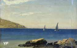 Vue côtière à Sirolo (Emmanuel Larsen, 1855)