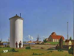 Vue du port de Korsor (Carl Flindt Dahl, 1863)