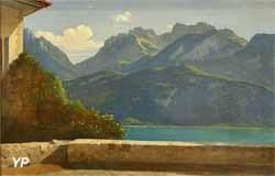 Vue du lac d'Annecy (Théodore Caruelle d'Aligny)