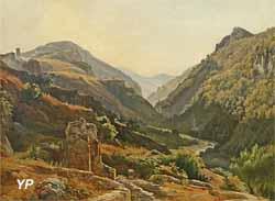 Paysage montagneux d'Italie (Grégoire Isidore Flachéron)