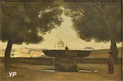 La vasque de l'Académie de France à Rome (Jean-Baptiste Camille Corot, 1826)