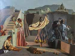 Personnages sur une terrasse à Capri (Aurèle Robert, 1830)