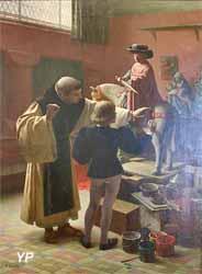 La leçon d'enluminure (Auguste-Félix Bauer, 1892)
