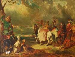 Chasse au vol sous Charles VII (Alfred de Dreux, 1846)