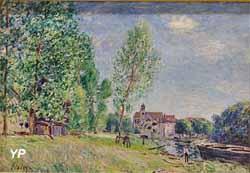 Moret, le chantier naval à Matrat (Alfred Sisley, 1882)