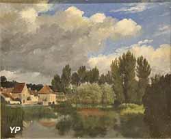 Village au bord de l'eau (Théophile-Narcisse Chauvel)