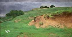 La lande ou La sablière, effet d'orage (Antoine Chantreuil)