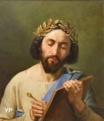 Anacréon écrivant ses poésies (Merry-Joseph Blondel)