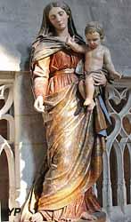Vierge en bois polychrome (XVIIIe s.)