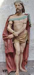 Christ aux liens (pierre polychrome, XVIe s.)