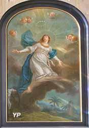 La Vierge sur une nuée entourée d'angelots (XVIIIe s.)
