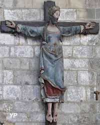 Sainte Wilgeforte crucifiée (bois peint, XVIe s.)